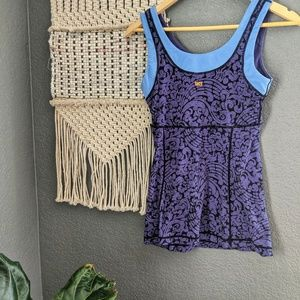 Lucy Tops - Lucy Blue & Purple Tank Top